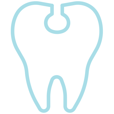 tooth colord fillings icon